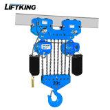 Liftking 15t Doppelgeschwindigkeits-elektrische Kettenhebevorrichtung mit elektrischer Laufkatze