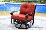 Muebles de la fundición de aluminio de la silla de club del deslizamiento del eslabón giratorio para el jardín