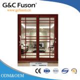 Porte coulissante de verre feuilleté de bâti d'alliage d'aluminium
