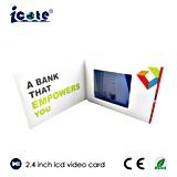 Новая конструкция визитная карточка LCD 2.4 дюймов видео-