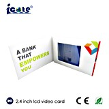 Neuer Entwurf 2.4 Zoll LCD-Video-Visitenkarte
