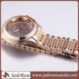 호화스러운 금 로즈는 석영 손목 시계 팔찌 스포츠 형식 시계를 본다