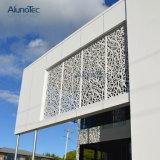 アルミニウム壁のクラッディングシステムレーザー切口の金属スクリーンのパネル