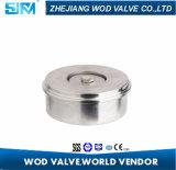 Tipo fino válvula de la oblea del clip del disco del acero inoxidable de Wod Dn40 de verificación