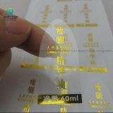Fantastisches anhaftendes Goldvereiteltes kleines rundes Aufkleber-Drucken