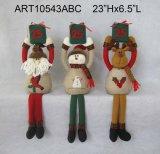 Jouets de décoration de Noël de renne de bonhomme de neige de Santa