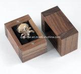 Kundenspezifisches Firmenzeichen-kleiner schwarze Walnuss-hölzerner Ring-Kasten