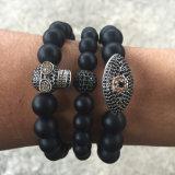 De regelbare Kwade Geparelde Armbanden van het Oog Kabel voor Mensen Mjb014