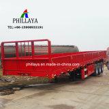 3 Wellen-Behälter-Bulkladung-Transport-Flachbett-halb LKW-Schlussteil