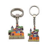 Het beste Verkopende Embleem Keychain van Keychain Emoji USB van het Leer van de Douane van het Metaal