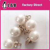 Белая пластмасса ABS отбортовывает кнопку перлы