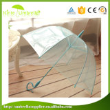 Зонтик Sun автоматических прямых белых выдвиженческих зонтиков прозрачный