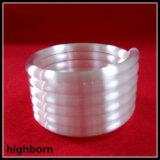 Tubo de cristal helicoidal blanco lechoso de cuarzo