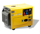 Молчком тип генератор дизеля одиночной фазы 5kw 5000W