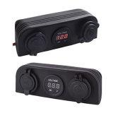 Два порта USB 3 в 1 светодиодный индикатор зарядного устройства+вольтметр+12V разъема+3 отверстие панели морской круиз на лодке автомобиля