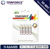 (HR03-AAA 600mAh) baixa bateria recarregável de China Fatory do hidruro do metal niquelar da descarga do auto 1.2V