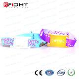 Braccialetto tessuto stampabile dei Wristbands della fascia molle NFC del tessuto di MIFARE S50