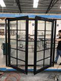 Ventana de cristal doble de aluminio del oscilación de la rotura termal doble del color
