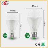 Lâmpada LED lâmpada LED 5W/7W/9W lâmpada LED do Sensor de Radar Sensor PIR Lâmpada LED com marcação CE aprovado RoHS longa vida útil