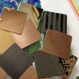 Feuilles colorées d'acier inoxydable pour les meubles et la décoration