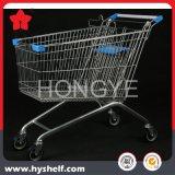 Carrello di acquisto del carrello del supermercato del negozio della vendita al dettaglio di ipermercato