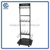 Kundenspezifische Fußboden-Standplatz-Metallentfernbare Regenschirm-Bildschirmanzeige-Zahnstange