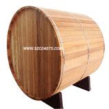 Barril de madeira de cedro vermelho Sauna sauna exterior House 20 anos Factory