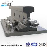 Flexibe schmiedete selbstsichernde Schienen-Stahlclips für Kräne