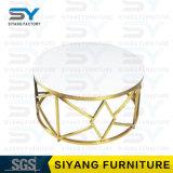 Mesa de centro Home da tabela do mármore da tabela do aço inoxidável do ouro da mobília