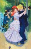 Репродукции шедевров танец на Bougival, Ренуар Картины маслом ручной работы