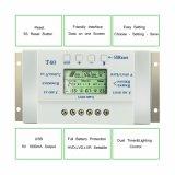 солнечная индикация 12V/24V LCD регулятора 40A для солнечной системы T40