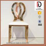 Фабрика продавая стул нержавеющей стали золота Rose с кожей PU