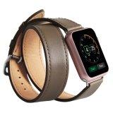 Appleの腕時計のための熱い販売の本革の倍の覆いバンド