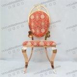 Yc-Ss41-1modern 로즈 금 스테인리스 판매를 위한 Wedding 타원형 뒤 식사 의자