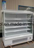 / Bebidas / Vegetaable Lácteos Frutas Multideck / enfriador de aire de la pantalla abierta