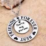 Pendente della collana degli migliori amici dell'acciaio inossidabile di modo per il regalo