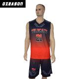 Jeu fait sur commande du Jersey d'équipe de basket de qualité libre de modèle