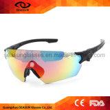 Lente da visão de HD grande que reveste óculos de sol táticos UV das forças armadas da polícia