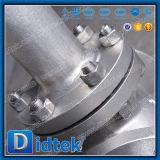 Didtek en dehors de robinet d'arrêt sphérique cryogénique d'acier inoxydable de vis
