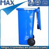 240 litros en el exterior de acero galvanizado Contenedor de residuos