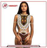 Afrikanische schwarze bronzierende Brücke-Bikini-Vielzahl Druck-Art-des siamesischen Riss Monokini Badeanzugs