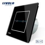Interruptor alejado Vl-C702sr-31/32 del panel del vidrio cristalino de la manera de Livolo 2gangs 2