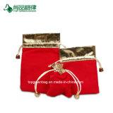 Bords colorés de promotion avec l'or personnaliser Coulisse de velours Sac Pochette pour bijoux