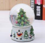 Artes de encargo del globo de la nieve, bola esculpida del agua de la resina - regalo del Año Nuevo del día de fiesta del cumpleaños del día de tarjeta del día de San Valentín de la Navidad