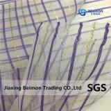 Silvery/Голден Лайн Yarn-Dyed Organza полосой