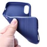 懸命のワイヤーデッサンの穀物のiPhone Xのための強い携帯電話の箱