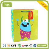Geburtstag-grüne Karikatur-Kleidungs-Spielzeug-System-Geschenk-Papiertüten