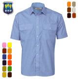 Los hombres al por mayor ropa de trabajo de campo de manga corta camisa uniforme