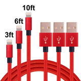 Ios11와 호환이 되는 번개 케이블에 나일론 땋는 USB a