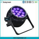 Os PCS de alto Pocer 1214W Rgbaw+Piscina UV LED DMX luz PAR